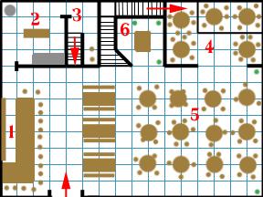 The Inn's first floor plan.