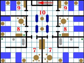 The Inn's second floor plan.