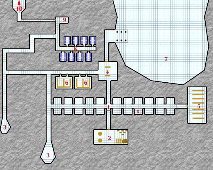 The dungeon's layout.