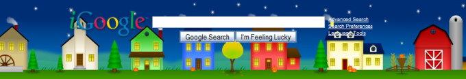 Screenshot of the header on iGoogle.
